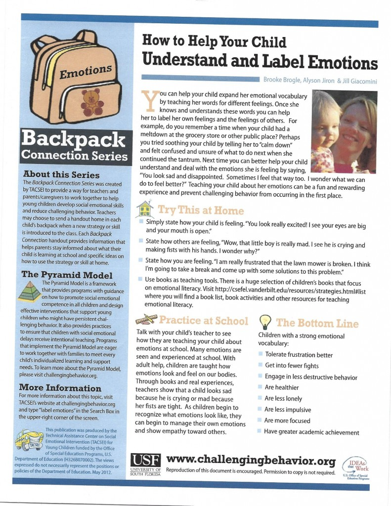How to help your child understand and label emotions July 2018